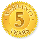 5 Years Warranty - Pond Leaks